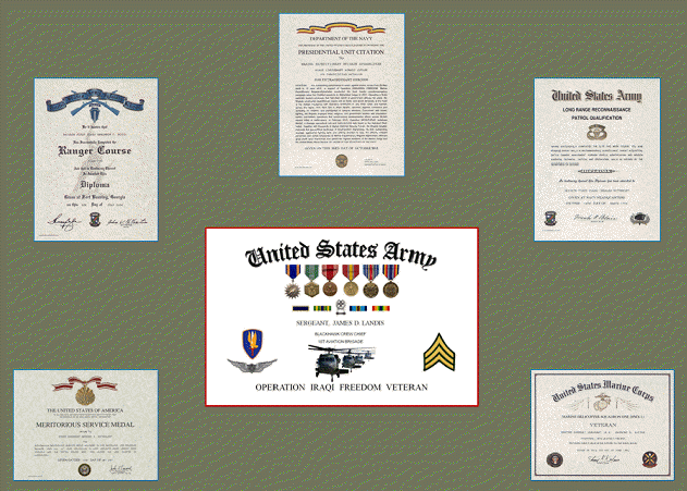 Military Certificates – Military Certificate of Appreciation Template